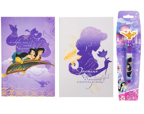 Disney Aladdin A5 Notebook Set with 10 Colour Pen - The Celebrity Gift Company