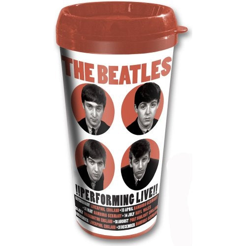 The Beatles Travel Mug, Official Licensed, 1962 Performing Live - The Celebrity Gift Company