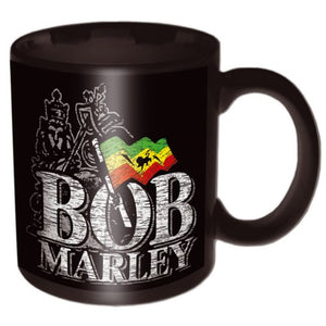 BOB MARLEY BOXED STANDARD MUG: DISTRESSED LOGO - The Celebrity Gift Company