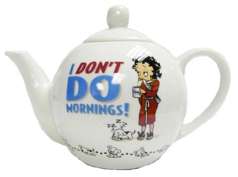 Betty Boop Teapot - I Don't Do Mornings - The Celebrity Gift Company