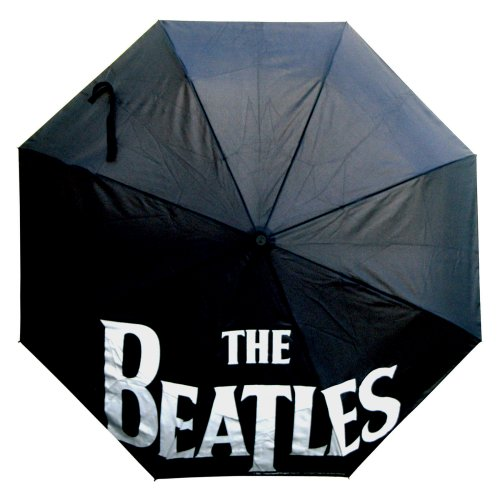 The Beatles Umbrella: Drop T Logo With Retractable Fitting, Parasols & Rain Umbrellas by The Celebrity Gift Company
