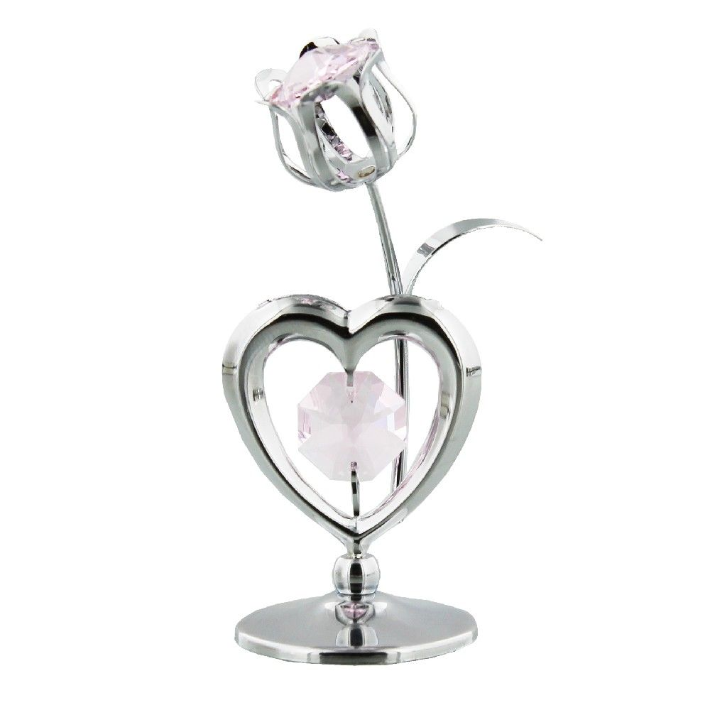 Swarovski Crystal Heart and Tulip by  The Celebrity Gift Company