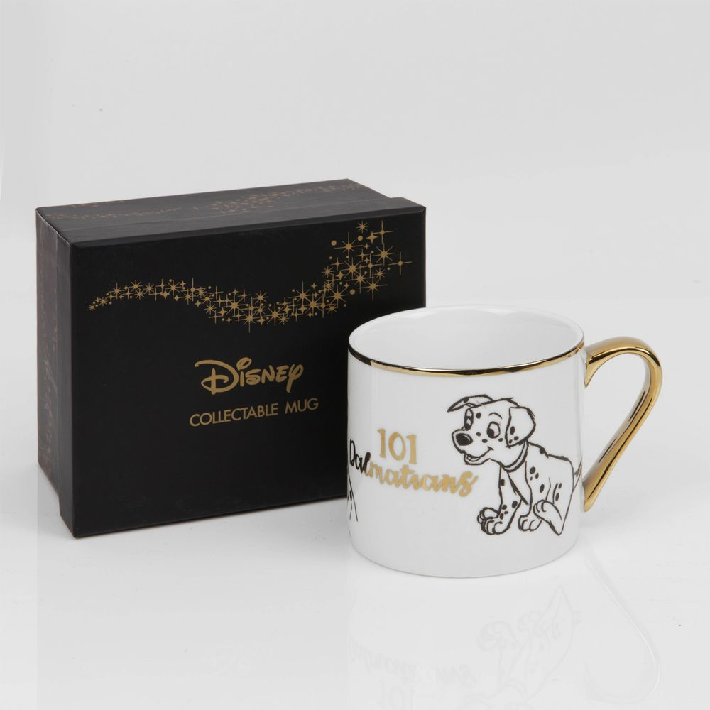 Disney Classic Collectable 101 Dalmations Coffee Mug Gift Boxed - The Celebrity Gift Company