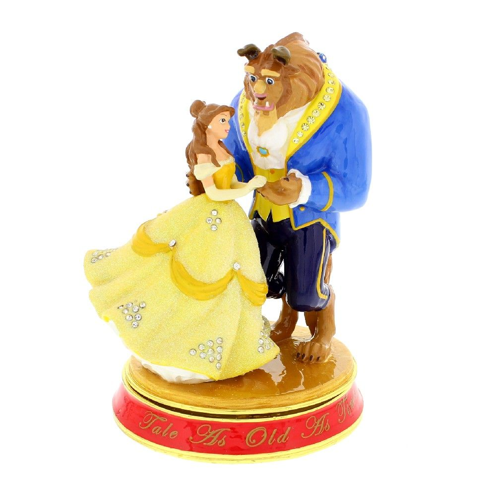 Disney Classic Trinket Box - Beauty & The Beast - The Celebrity Gift Company