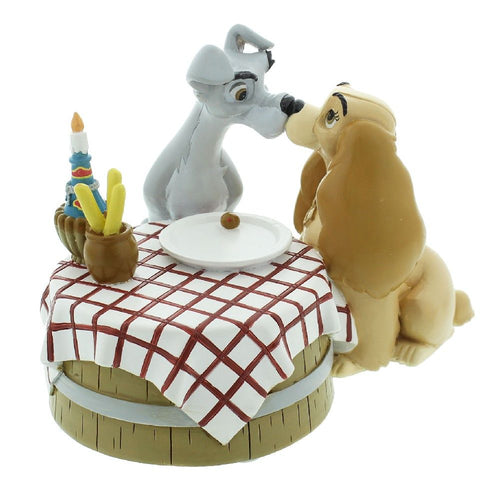 Disney Magical Moments - Lady & The Tramp Table Figurine - The Celebrity Gift Company