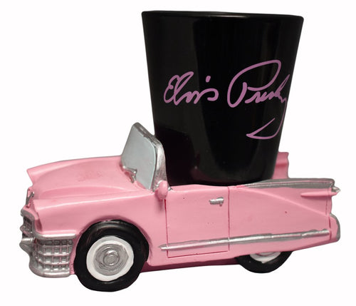 Elvis Presley Shot Glass With Car Base - The Celebrity Gift Company