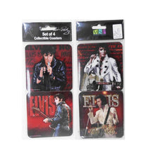 Load image into Gallery viewer, Elvis Presley Coasters Red 68 - Set of 4 - The Celebrity Gift Company