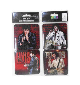 Elvis Presley Coasters Red 68 - Set of 4 - The Celebrity Gift Company