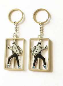 Elvis Presley Key Chain Spinner Blue Suede Shoes - The Celebrity Gift Company