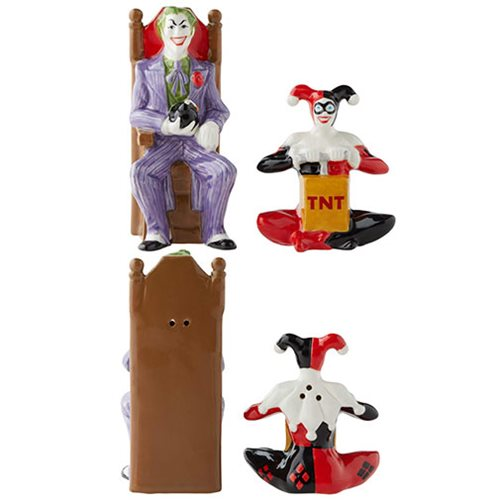 DC Comics Joker and Harley Quinn Salt and Pepper Shaker Set - The Celebrity Gift Company
