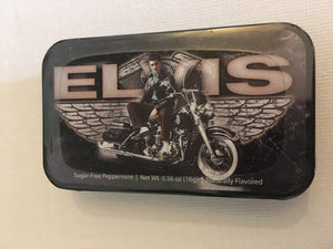 Elvis Presley Mints in Tin Motorcycle Wings - The Celebrity Gift Company