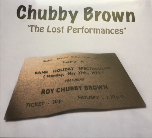 Roy Chubby Brown - The Lost Performances CD (Signed version also available) - The Celebrity Gift Company