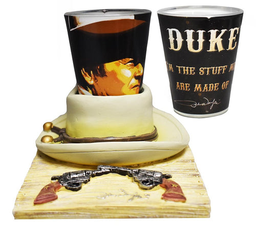 John Wayne Shot Glass with Hat Base - The Celebrity Gift Company