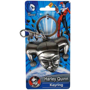 Batman Harley Quinn Head Pewter Key Chain - The Celebrity Gift Company