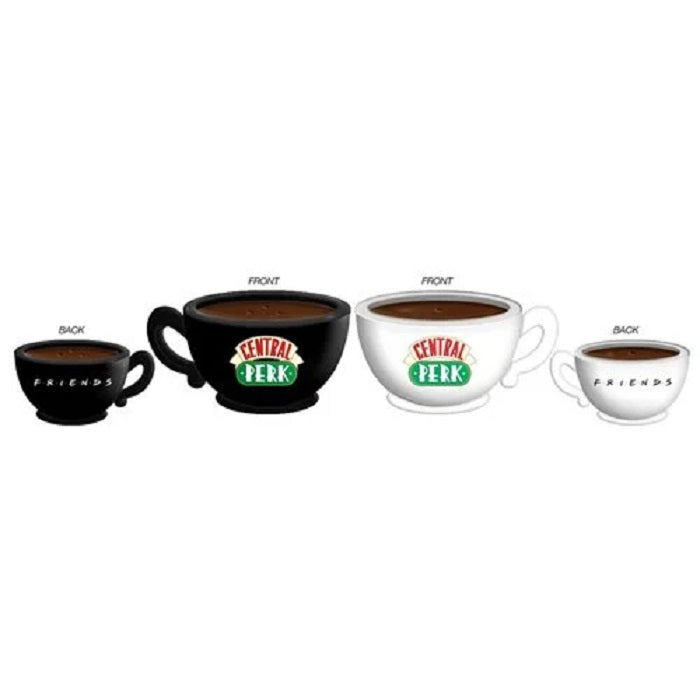 Friends Black and White Central Perk Ceramic Salt & Pepper Shakers - The Celebrity Gift Company
