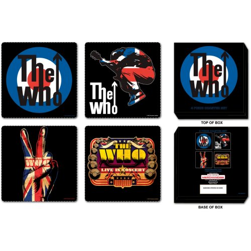 The Who Coaster Set - Mixed - The Celebrity Gift Company