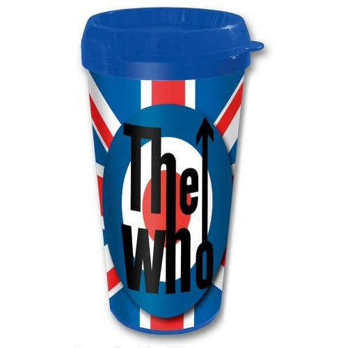 THE WHO TRAVEL MUG: TARGET (PLASTIC BODY) - The Celebrity Gift Company