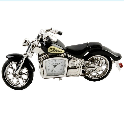 Black Indian Motorbike Metal Miniature Clock - The Celebrity Gift Company