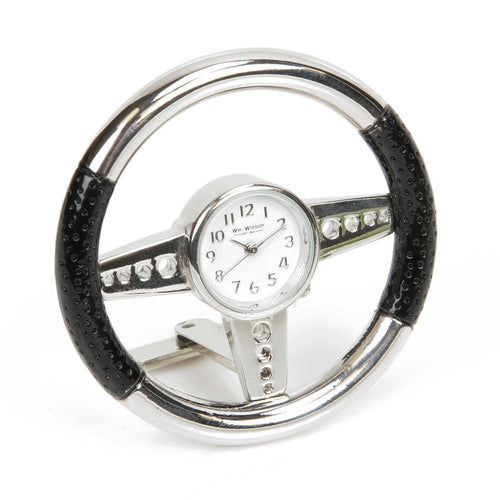 Steering Wheel Metal Miniature Clock - The Celebrity Gift Company