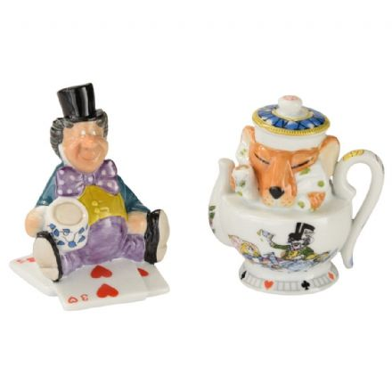 Alice Salt & Pepper Set Mad Hatter & Dormouse - The Celebrity Gift Company
