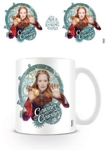 Alice Through the Looking Glass Mug Curiouser - The Celebrity Gift Company