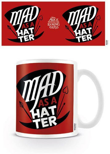 Alice Through the Looking Glass Mug Mad As A Hatter - The Celebrity Gift Company