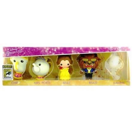Beauty & the Beast 3D Figural Key Chain 5-Pack - San Diego Comic-Con Excl - The Celebrity Gift Company
