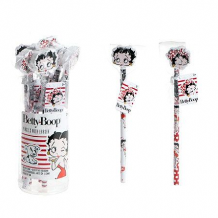 Set of 2 Betty Boop pencils with eraser - The Celebrity Gift Company