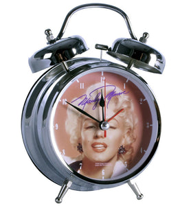 "Marilyn Monroe 4"" Double Bell Alarm Clock - The Celebrity Gift Company"