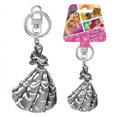 Disney Beauty & The Beast Belle Silver Pewter Key Chain - The Celebrity Gift Company