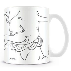 Disney Dumbo Black & white Mug - The Celebrity Gift Company