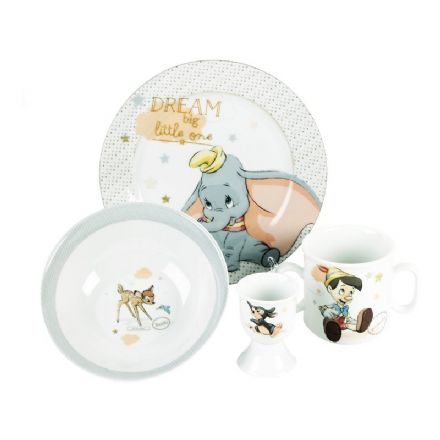 Disney Magical Beginnings Set Bowl, Plate, Mug & Egg Cup Dumbo - The Celebrity Gift Company