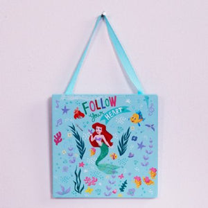 Disney Princess Aqua Little Mermaid Hanging Plaque - The Celebrity Gift Company