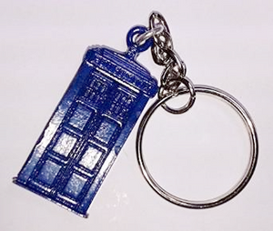Doctor Who TARDIS Pewter Keyring - The Celebrity Gift Company