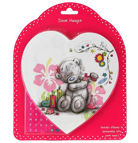 Me To You Personalised Name Door Hanger Bedroom Heart Wall Plaque - The Celebrity Gift Company