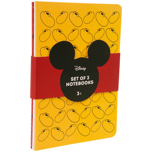 Mickey Mouse Notebook Set of 3 - The Celebrity Gift Company