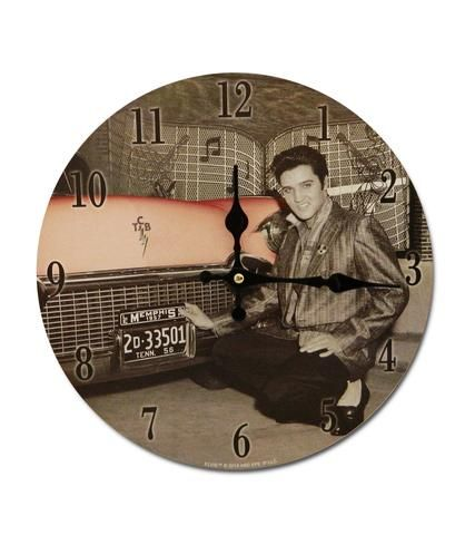 Elvis Presley Wall Clock - Pink Cadilac - The Celebrity Gift Company