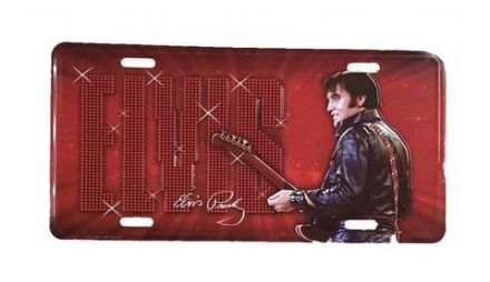 Elvis Presley Metal License Plate '68 - The Celebrity Gift Company