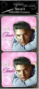 Elvis Presley Coasters Love Me Tender - Set of 4 - The Celebrity Gift Company