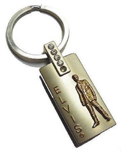 Elvis Presley Key Chain, Gold Lame Pewter - The Celebrity Gift Company