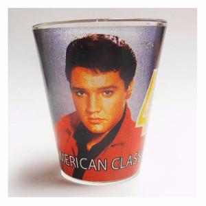 Elvis Shot Glass LP Red Jacket - The Celebrity Gift Company