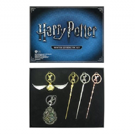 Harry Potter Pewter Key Chain 5 Pack, San Diego Comic-Con Exclusive - The Celebrity Gift Company