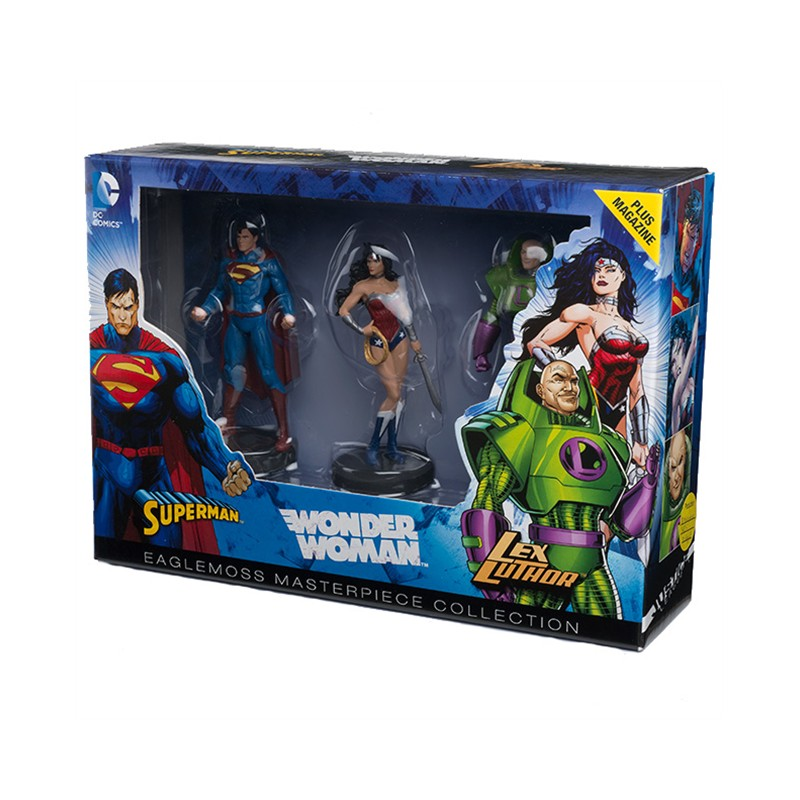 DC Masterpiece Collection Superman, Wonder Woman & Lex Luthor Collectible Figures by  The Celebrity Gift Company