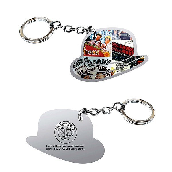 LAUREL & HARDY METAL KEYRING - The Celebrity Gift Company