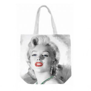 Marilyn Monroe Red Lips Canvas Tote Bag - The Celebrity Gift Company