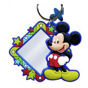 Mickey Mouse Laser Cut Mirror Keyring Keychain Luggage Tag - The Celebrity Gift Company