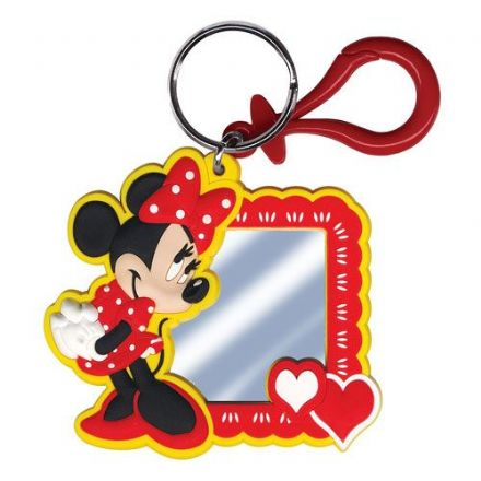 Minnie Mouse Laser Cut Mirror Keyring Keychain Luggage Tag by  The Celebrity Gift Company