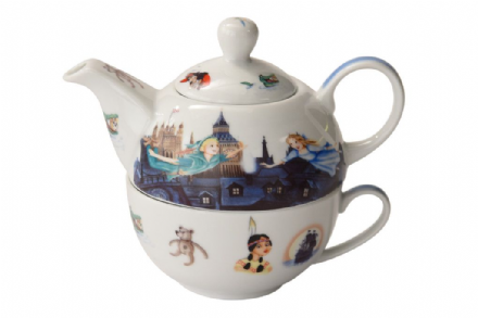 Ceramic Peter Pan Tea for One. Tea pot and mug - The Celebrity Gift Company
