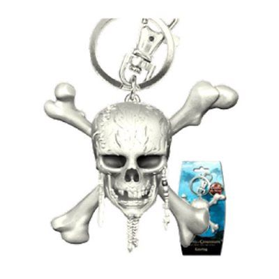 Pirates of The Carribean Skull Pewter Key Chain - The Celebrity Gift Company