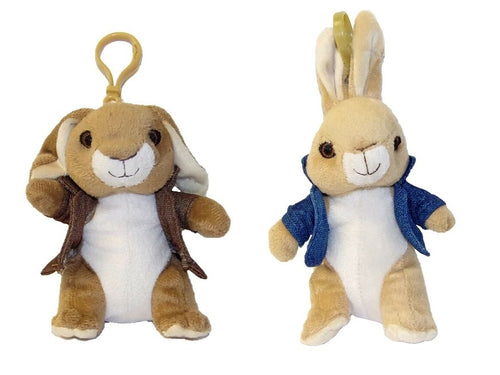 Peter Rabbit Plush Bag Clip - The Celebrity Gift Company